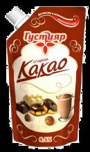 «Густияр»  Сгущенка с сахаром и с какао 270г