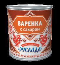 Варенка «Руслада» 370г. Сгущенка вареная с сахаром