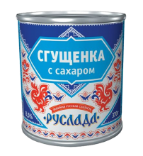 Начинка кондитерская: «Руслада» Сгущенка с сахаром с заменителем молочного жира  370г