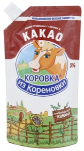 Сгущенное молоко с сахаром и какао 270 г.