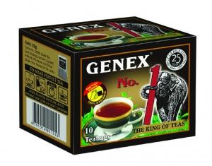 Черный чай«Дженекс №1 Король чая» в пакетиках 10*2г