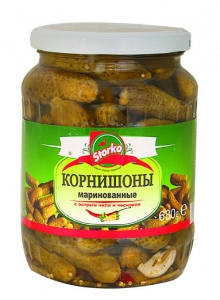 Pickled Cornichons with spicy chili and Garlic 460g/680g/1330g