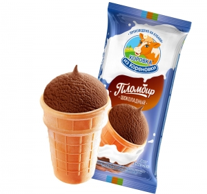 Chocolate ice cream in a waffle cup 100g