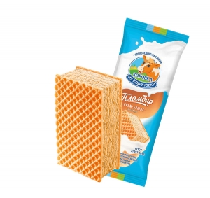 Ice cream in waffles creme brulee 80g