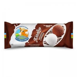Пломбир шоколадный и ванильный 400г