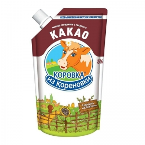Condensed milk with sugar and cocoa 5%  270 g