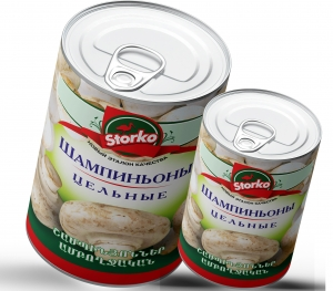 Champignons  canned whole 800g/400g