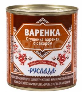 Начинка кондитерская: «Руслада» Варенка с сахаром с заменителем молочного жира 370г