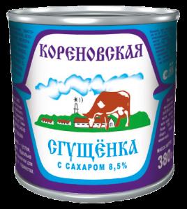 Кorenovskaya Condensed Milk with sugar 370 g.