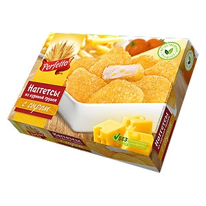 Nuggets of chicken breast with cheese 260g.