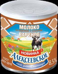 «Алексеевское» Молоко сгущенное вареное с сахаром 360г. с ключом