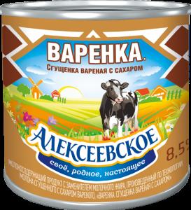 Варенка «Алексеевское» сгущенка вареная с сахаром 370г.
