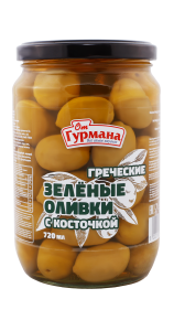 Greek Green Whole Olives 720 ml