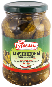 Pickled gherkins with hot chili 500 ml