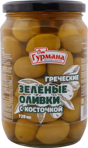 Greek Green Whole Olives 720 ml