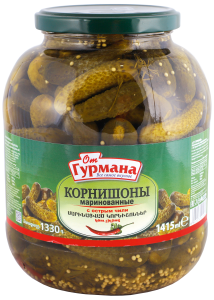 Pickled gherkins with hot chili 1415 ml